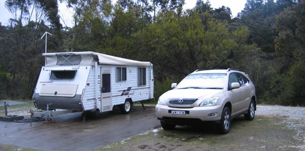 Blackhealth Caravan Park in the snow
