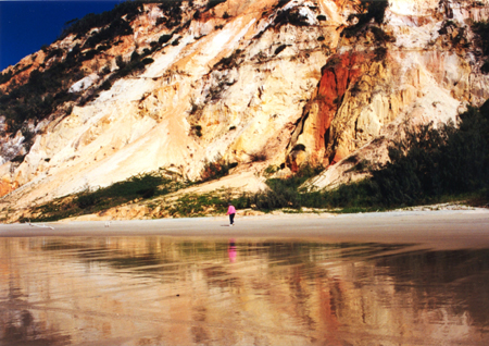 Rainbow Beach Coloured Sands - Photo by Harry Willey