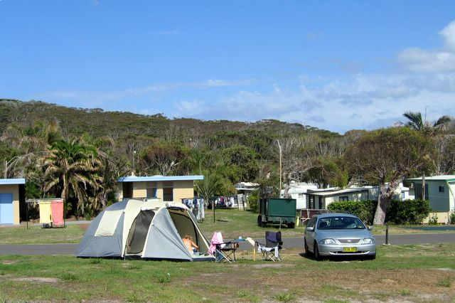 One Mile Beach Holiday Park Anna Bay Area For Tents And Camping