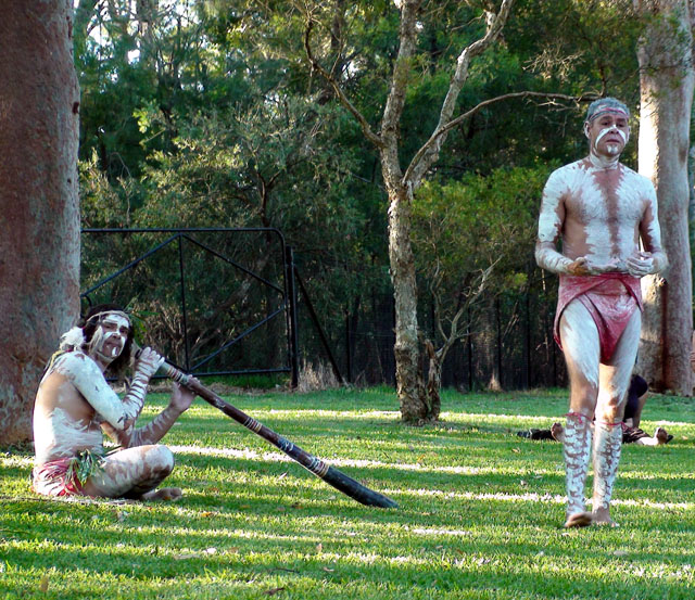 Members of the Tribal Warriors Association at Lane Cove River Tourist Park
