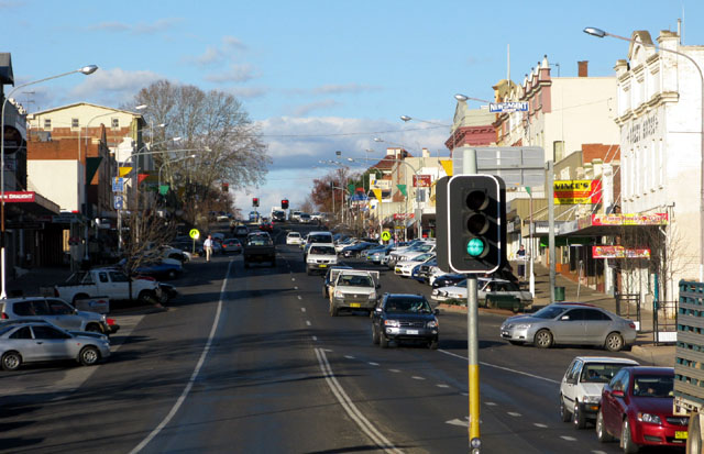 Main Street of Cowra NSW