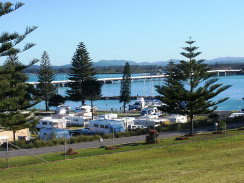 Forster Caravan Park and Boat Harbour. Photo by Harry Willey