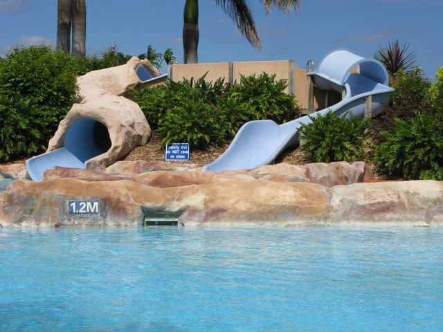 Park Beach Holiday Park Coffs Harbour Water Slide In Swimming Pool