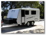Rugged Elross 4 x 4 caravan