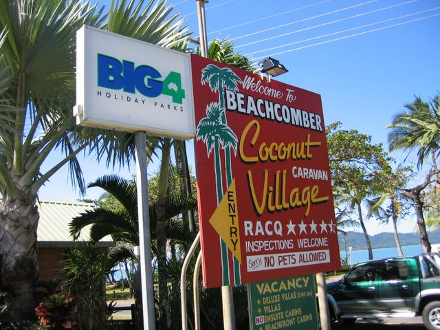 Beachcomber Coconut Caravan Village Mission Beach South Beachcomber Coconut Caravan Village Welcome Sign