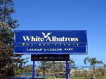 Active Holidays White Albatross - Nambucca Heads: White Abatross Holiday Centre welcome sign.