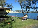 Active Holidays White Albatross - Nambucca Heads: Powered sites for caravans with water views.