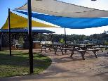 Beachfront Holiday Resort - Hallidays Point: Camp kitchen and BBQ area