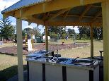 North Beach Caravan Park 2005 - Mylestom: Camp kitchen and BBQ area